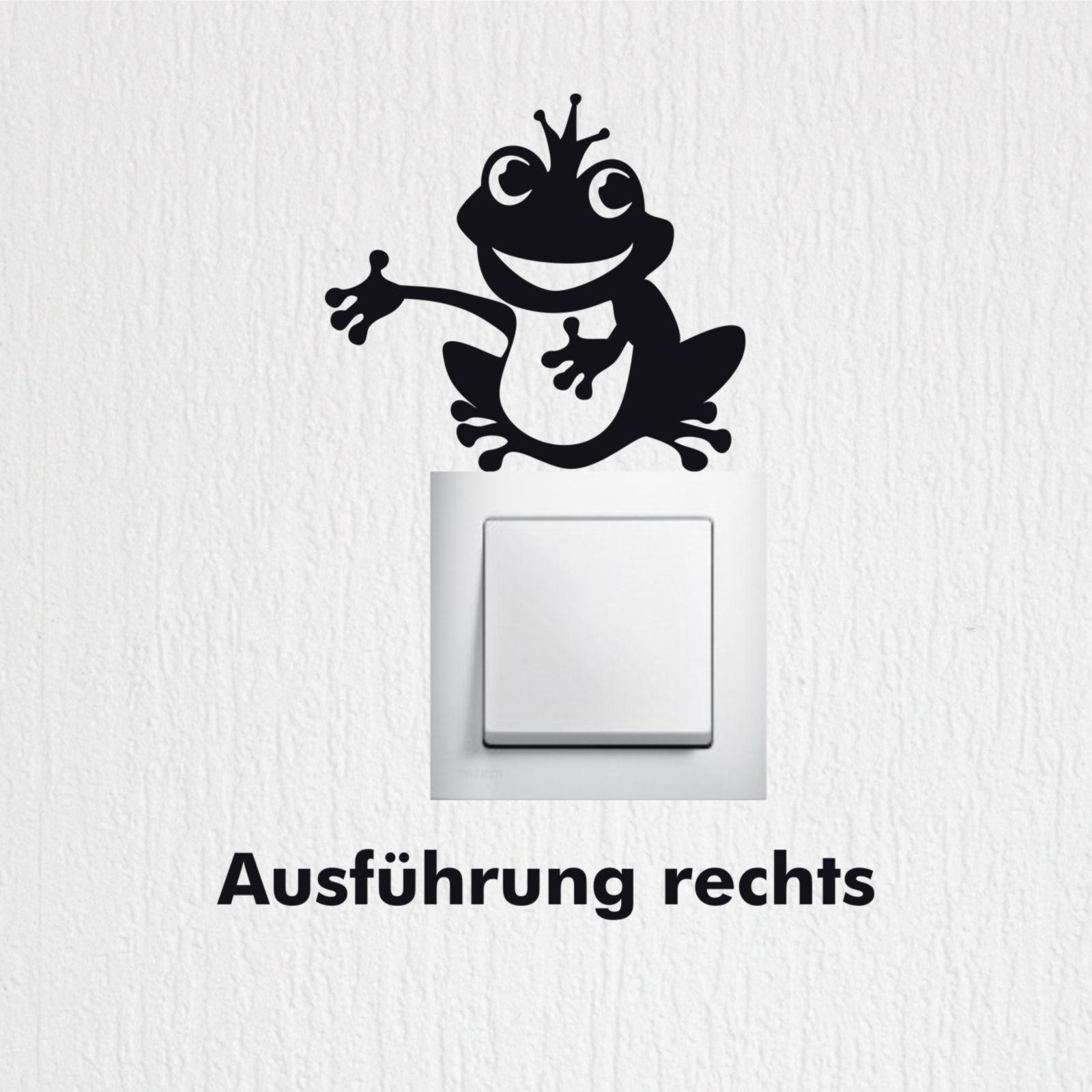 wandtattoo froschk nig cartoon fun kinderzimmer. Black Bedroom Furniture Sets. Home Design Ideas