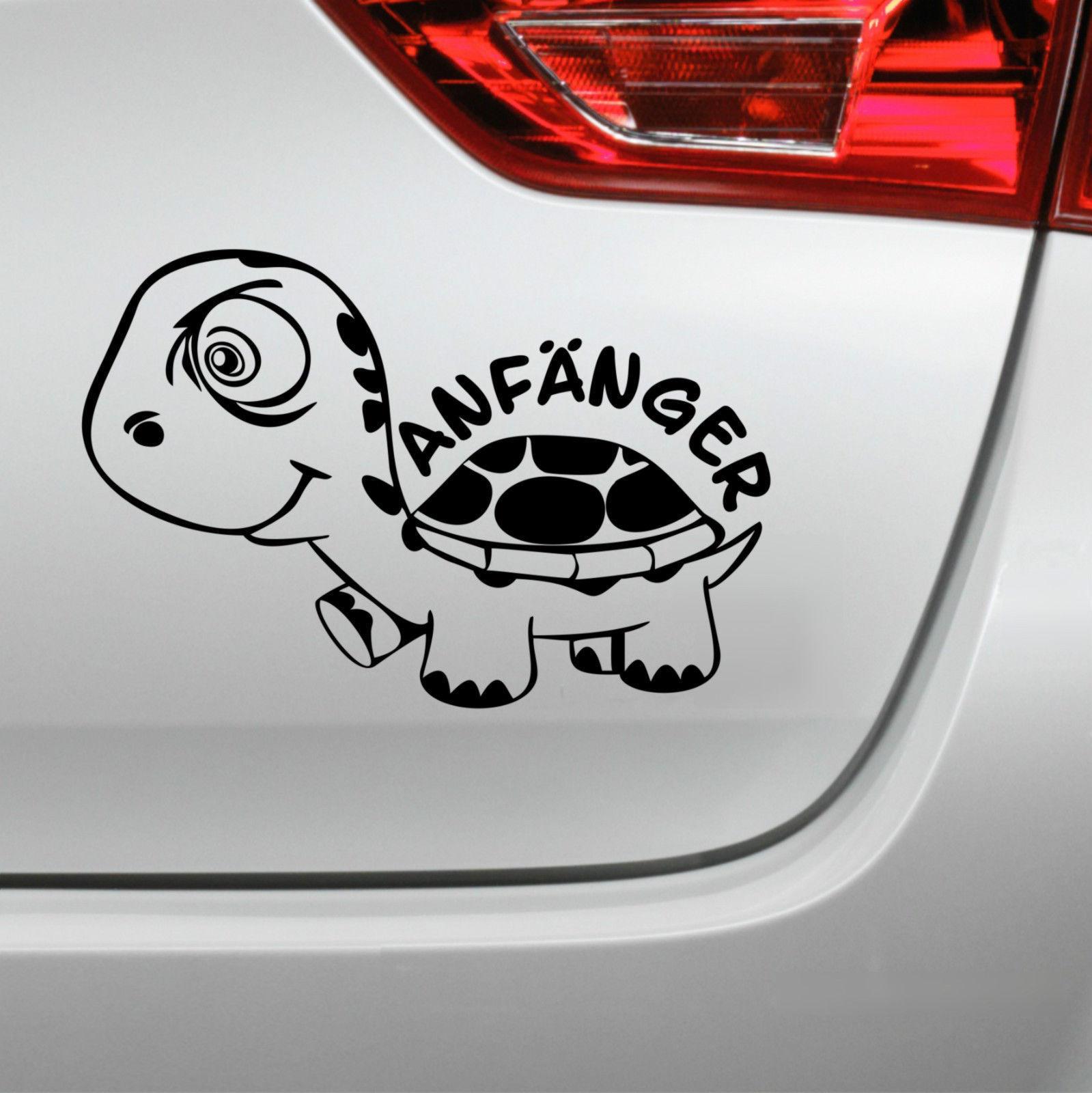 Anfänger Turtle Aufkleber Schildkröte Heckscheibe Fahranfänger | eBay