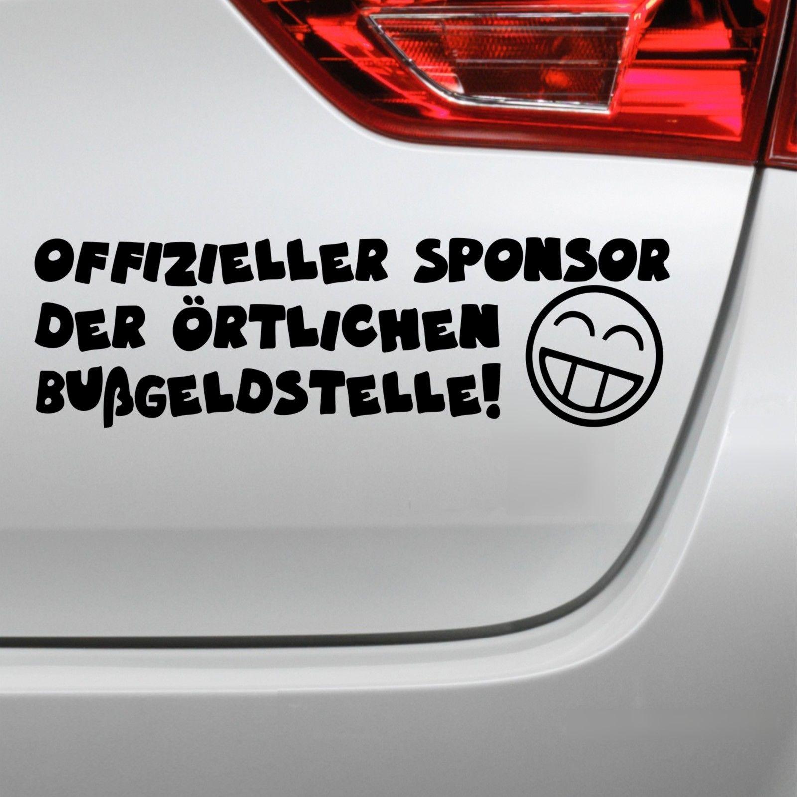Auto Aufkleber Offizieller Sponsor Fun Spruch Sticker Ebay