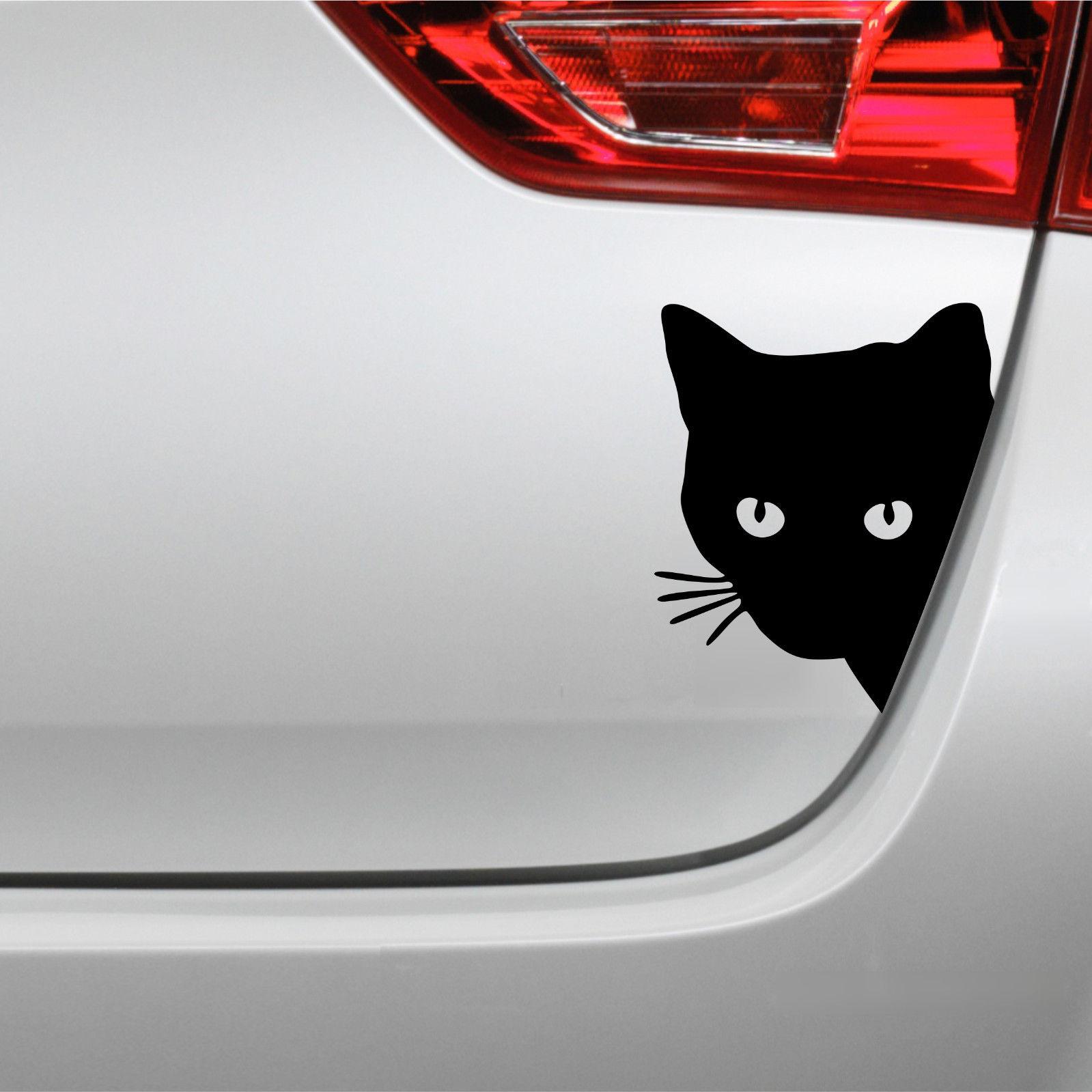 Katzenkopf Aufkleber Katze Autoaufkleber | eBay