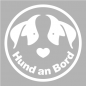 Mobile Preview: Hund an Bord Aufkleber 20 cm